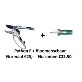 ACTIE! Python F + bloemenschaar
