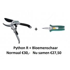 ACTIE! Python R + bloemenschaar