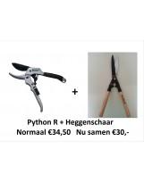 ACTIE! Python R + heggenschaar