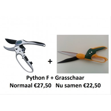 APRIL ACTIE! Python F + grasschaar